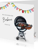 Uitnodigingen barbecue kaart