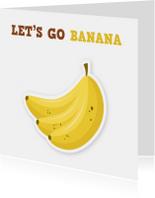uitnodigingskaart lol bananen ME