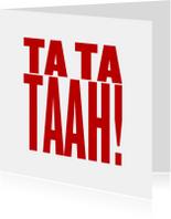 Uitnodigingskaart tatataah - LB
