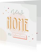 Umzug Glückwunschkarte 'New Home'