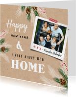Umzugs-Weihnachtskarte Happy New Home mit Foto