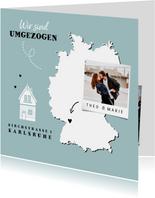 Umzugskarte Deutschlandkarte mit Herz & Foto