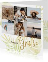 Urlaubsgrußkarte mit sechs Fotos