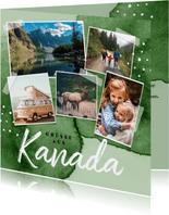 Urlaubskarte Roadtrip Wasserfarbe und Fotos
