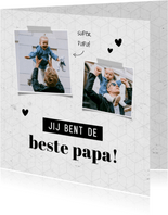 Vaderdag jij bent de beste papa grafisch