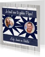Vaderdagkaart Hout Blauw - BK