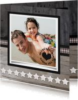 Vaderdagkaart Hout Ster Foto