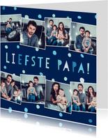 Vaderdagkaart 'liefste papa' fotocollage met confetti