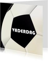 Vaderdagkaart met voetbal
