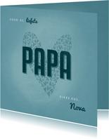 Vaderdagkaart PAPA met hart en naam