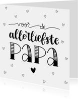 Vaderdagkaart - Voor de allerliefste papa!