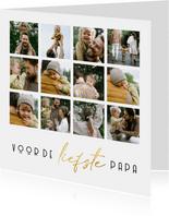 Vaderdagkaart voor de liefste papa fotocollage 12 foto's