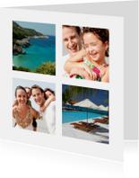 Vakantie Foto Collage - 4 foto's