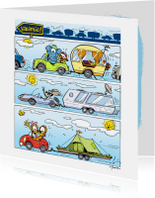 Vakantie Loeki strip autoreis - A