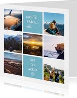 Vakantiekaart fotocollage 'Love to Travel'