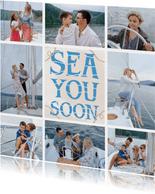 Vakantiekaart fotocollage sea you soon