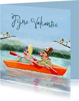 Vakantiekaart In het bootje
