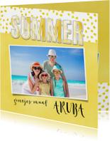 Vakantiekaart Summer geel - SG