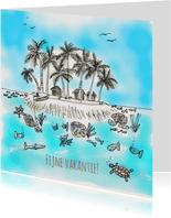 Vakantiekaart Tropisch Eiland