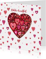 Valentijn gekleurde hartjes