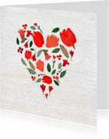 Valentijn, geschilderd hartje