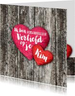 Valentijn harten liefde eigen tekst