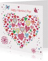 Valentijn hartjes hart Vrolijk