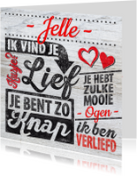 Valentijn man rood hout