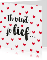 Valentijn romantische hartjes