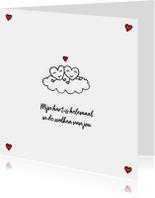 Valentijnskaarten - Valentijns hartjes