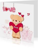 Valentijnsbeer met hart