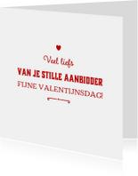 valentijnskaart aanbidder - LB