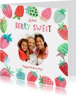 Valentijnskaart aardbeien berry sweet