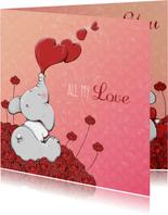 Valentijnskaart all my love - IH