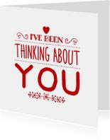 valentijnskaart denk aan je - LB