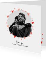 Valentijnskaart foto hartjes persoonlijk liefde