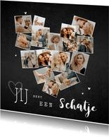Valentijnskaart fotokaart collage hart krijt hip