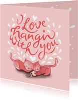 Valentijnskaart handlettering