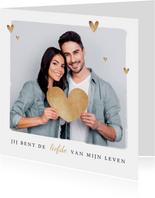 Valentijnskaart hip fotokaart hartjes goud