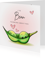 Valentijnskaart I've bean thinking about you
