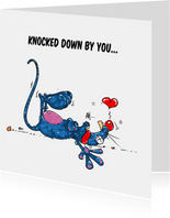 Valentijnskaart knocked down by you