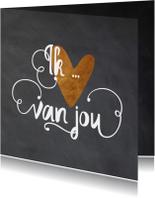 Valentijnskaart krijt - LO