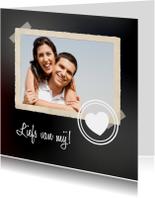 Valentijnskaart Krijtbord Hart