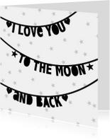 Valentijnskaart letterslingers