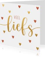 Valentijnskaart liefs hartjes