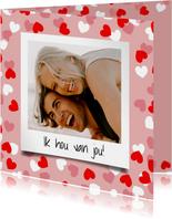 Valentijnskaart met hartjeskader en foto