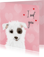 Valentijnskaart met hondje