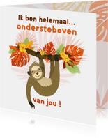 Valentijnskaart met luiaard