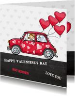 Valentijnskaart Mini ballon av