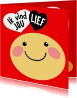 Valentijnskaart Smiley lief